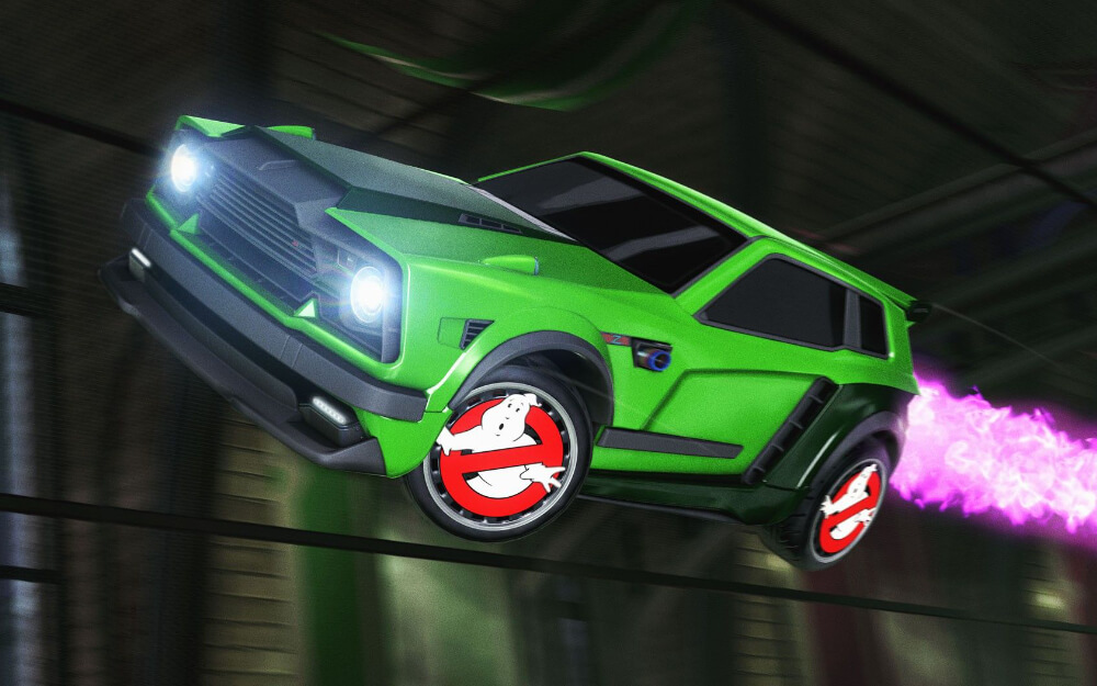 Rocket League Haunted Hallows - Ghostbusters Wheels